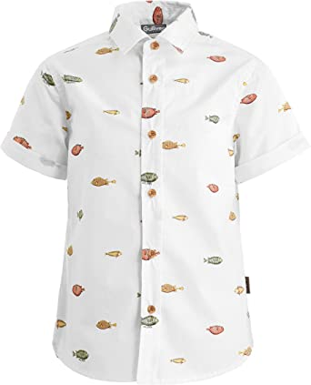 GULLIVER - Camisa de manga corta para niño, diseño con texto ...