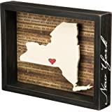 Primitives by Kathy Wanderlust Box Sign, 10.5 x 8-Inch, New York