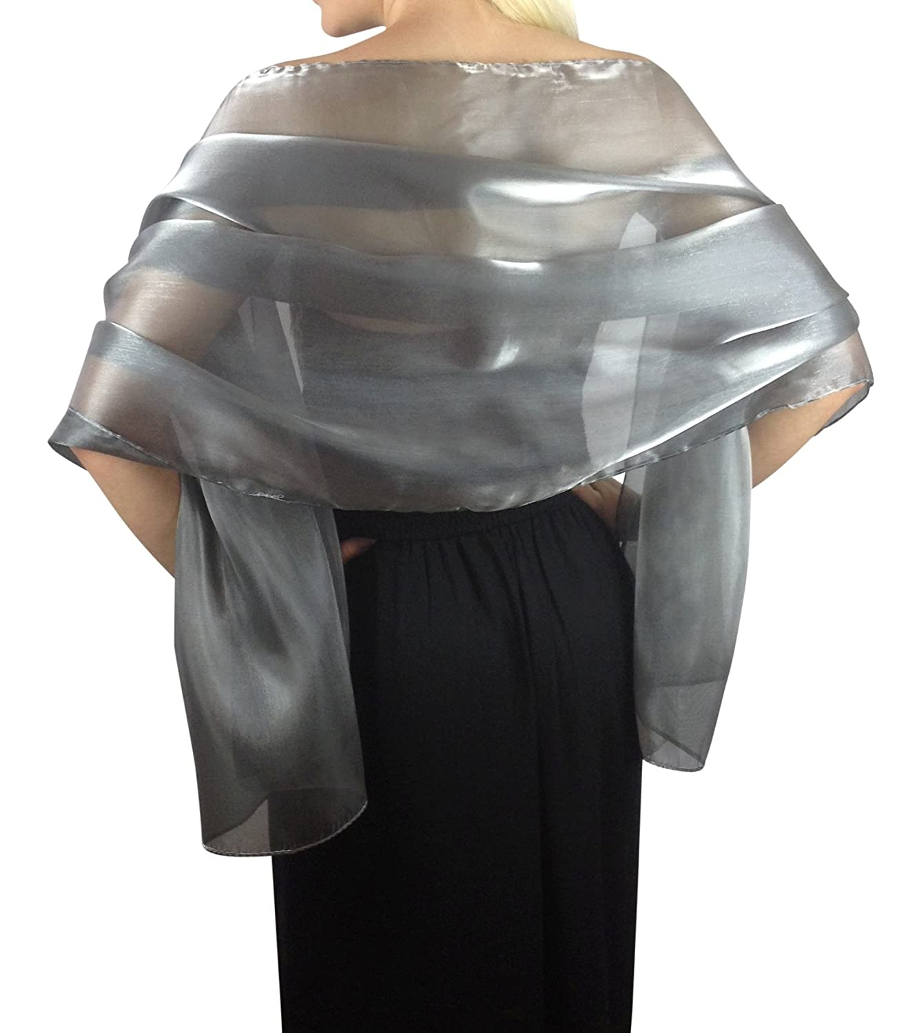 Central Chic Women\'s Silky Iridescent Wrap Stole Shawl at Amazon ...