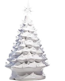 Amazon Com 13 Ceramic Christmas Tree White And Lights Up Home