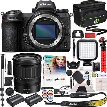 Amazon.com: Cámara Nikon Z6 sin espejo cuerpo FX-formato ...