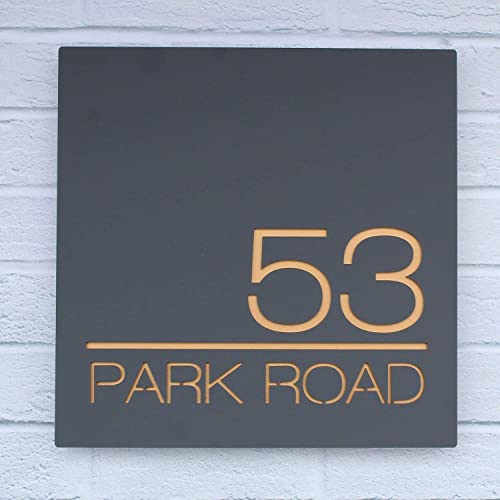Contemporary Acrylic Floating Square House Sign Modern Door Number