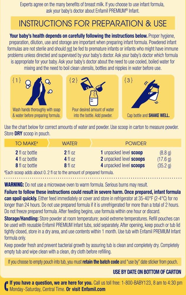 Enfamil PREMIUM Non-GMO Infant Formula - Reusable Powder Tub & Refills, 121.8 oz by Enfamil (Image #10)