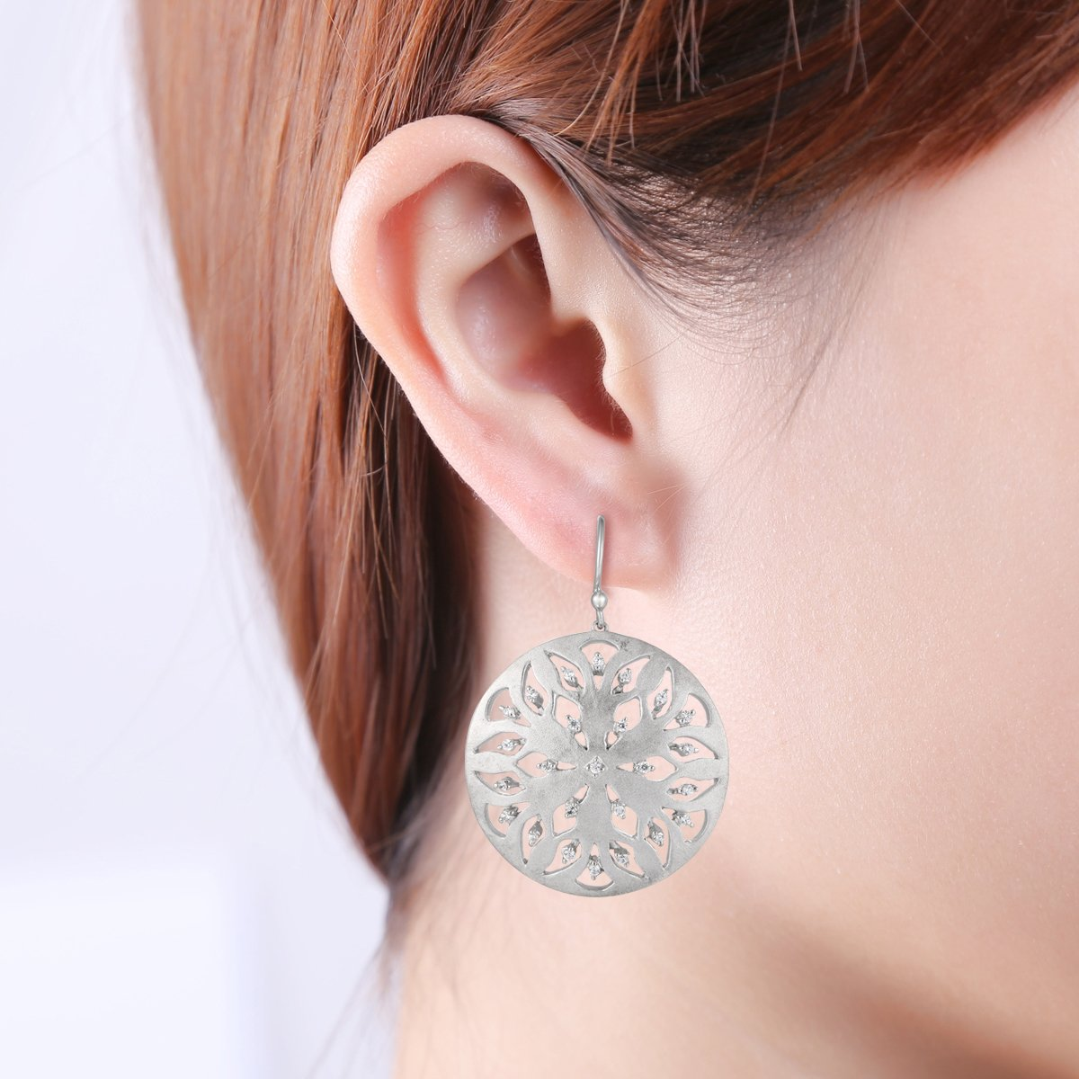 Easter Offer, Ferhe New York 925 Sterling Silver Earring withCubic Zirconia by Jewel Ivy (Image #2)