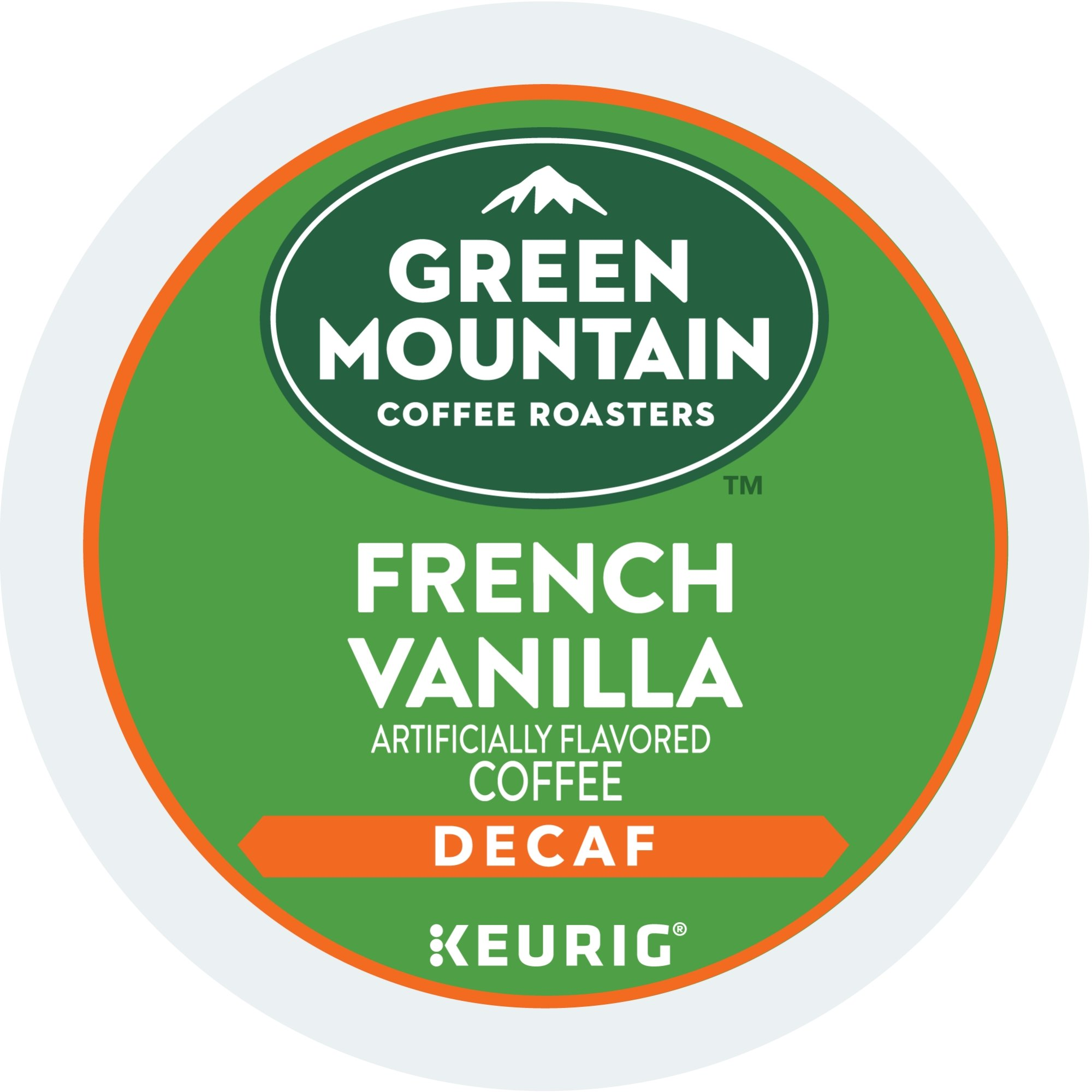Green Mountain Coffee Roasters French Vanilla Decaf Keurig Single-Serve K-Cup Pods, Light Roast Coffee, 72 Count (6 Boxes of 12 Pods)