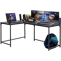 FurnitureR Escritorio de Esquina Escritorio de Juegos de computadora en Forma de L Estación de Trabajo de Mesa para…