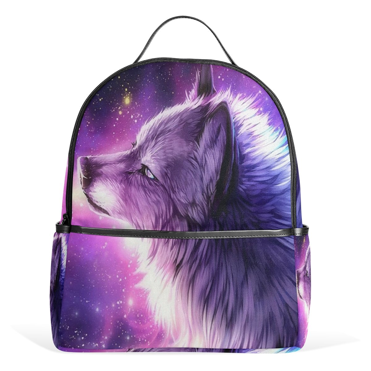a4f484a5547 Amazon.com   Donnapink Cool Galaxy Wolf In Stary Universe School ...