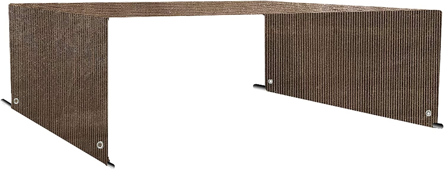 Alion Home Custom HDPE Permeable Canopy Sun Shade Cover Replacement with Rod Pockets for Pergola (14' x 9', Mocha Brown)
