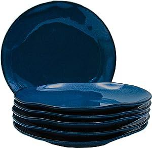 Tuxton Home THGAN005-6B Artisan Salad Plate, 9-Inch, Night Sky Blue