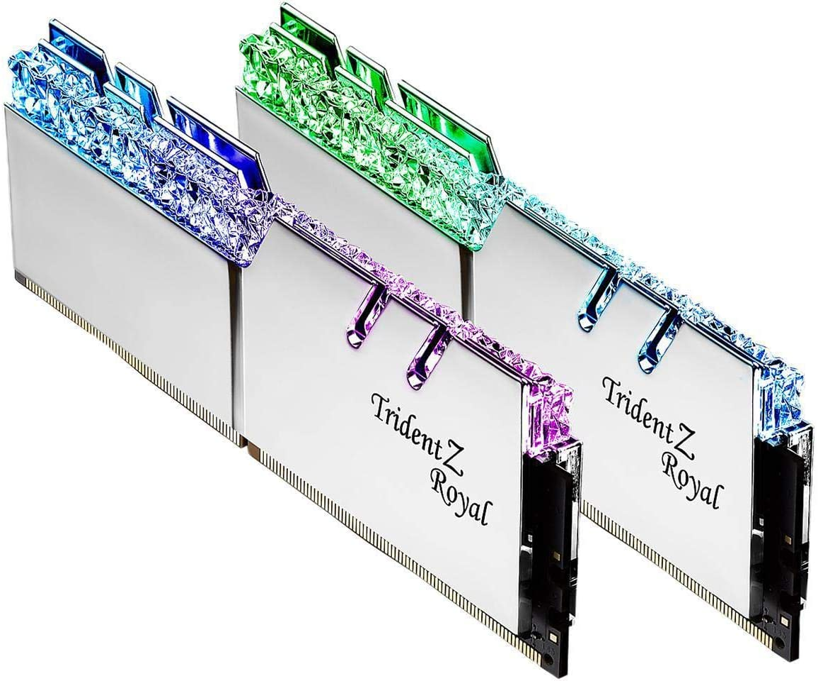 G.SKILL Trident Z Royal Series 32GB (2 x 16GB) 288-Pin DDR4 SDRAM DDR4 3600 Desktop Memory Model F4-3600C19D-32GTRS