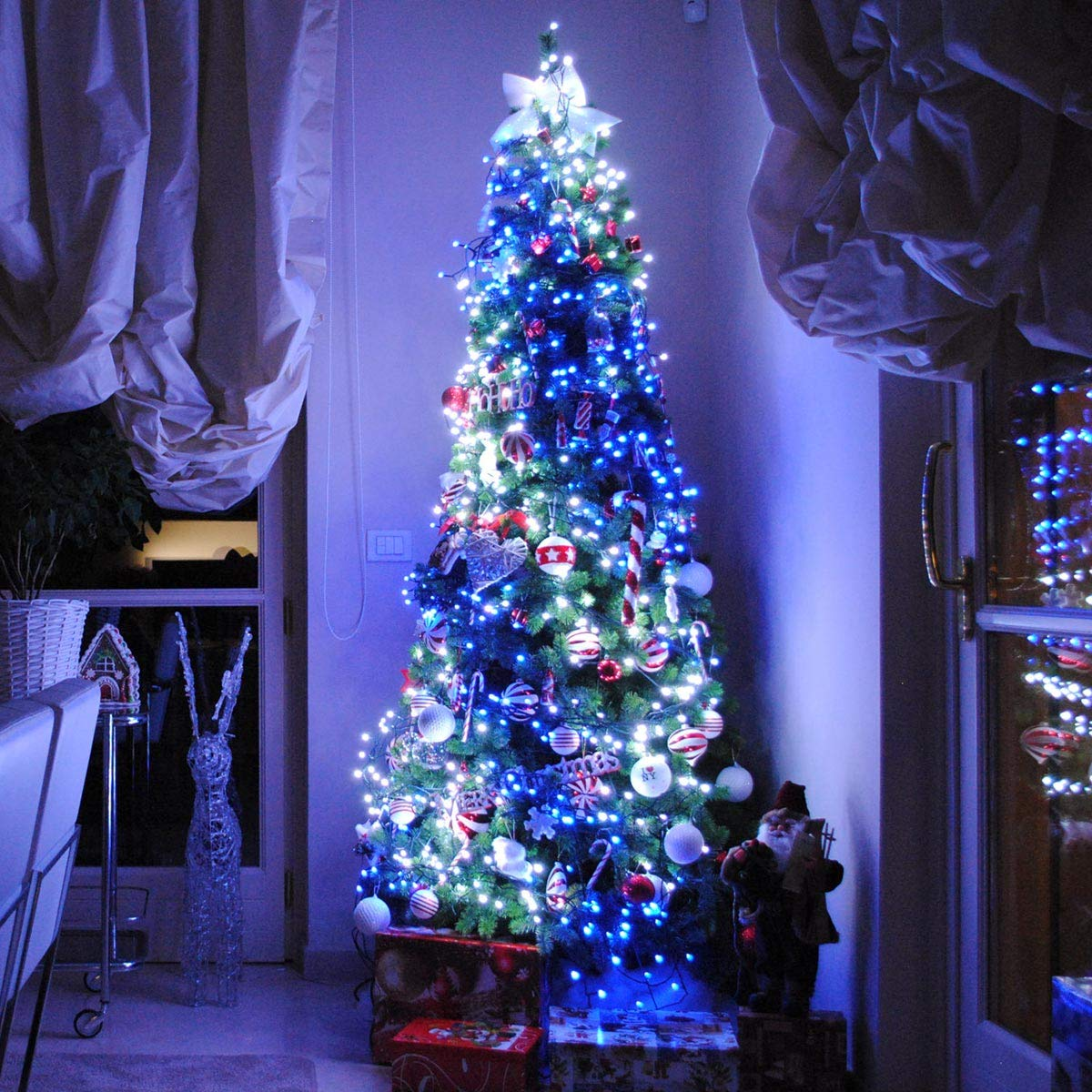 twinkly smart app controlled christmas tree lights customisable colour changing fairy lighting android apple ios