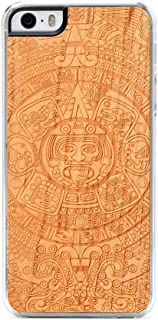 product image for CARVED Cherry Wood Clear Case for iPhone 5 - Aztec Calendar (I5-CC1K-E-AZTEC)