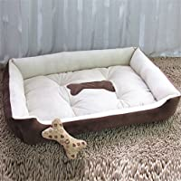 Nuovo Canile Pet Nido di Velluto Cane Tappetino Casa Pet Autunno Inverno Warm Pet Waterloo Cane Cuccia Forniture Animali Applicabili Grandi Medie Cani di Piccola Taglia (L(80x60x15cm))