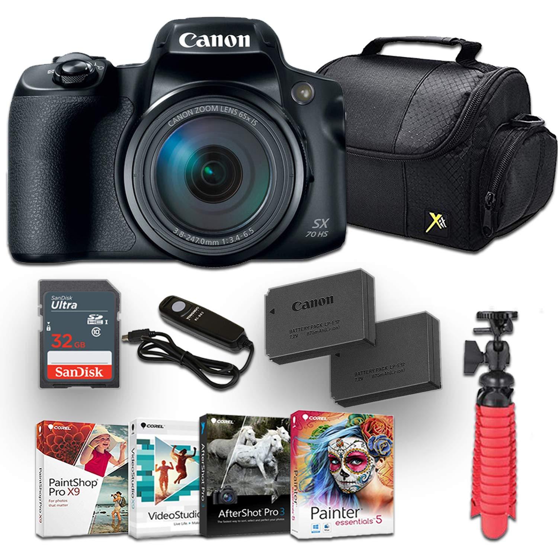 Canon PowerShot SX70 HS プロ用アクセサリーキット付き フォト編集用ソフトウェア4パック キャノンケース メモリーカードなど   B07NVV7RDN