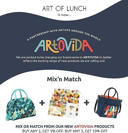 Amazon.com: ARTOVIDA Tica Collection - Bolsa de almuerzo de ...