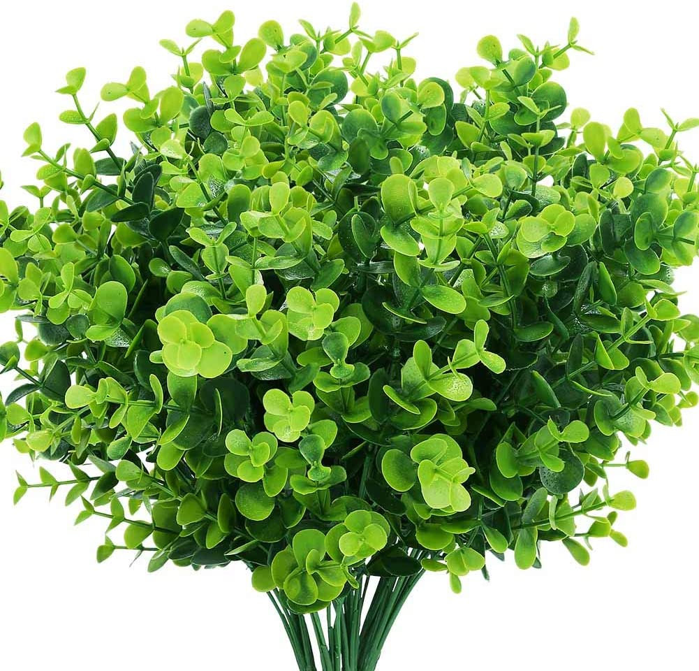 Amazon Com Temchy Artificial Plants Flowers Faux Boxwood Shrubs 6