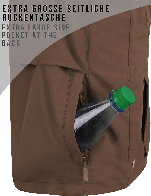 aus Atmungsaktivem Sonnenschutzmaterial normani Outdoorweste f/ür Herren 5XL erh/ältlich Farbe Braun Gr/ö/ße L 50/°C in S
