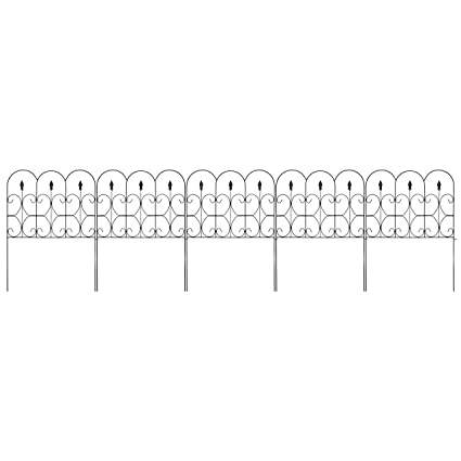 Iron Fence Panels >> Amazon Com Best Choice Products 10ftx32in 5 Panel Foldable