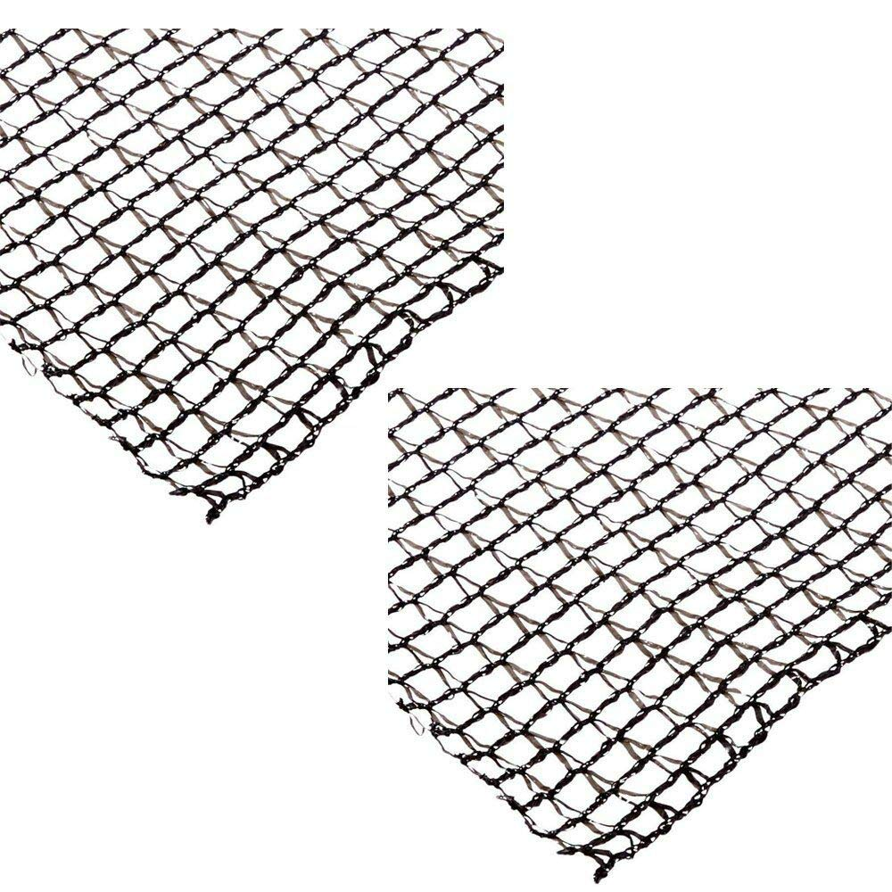zwan Deluxe 20 x 30 Foot Heavy Duty Fish Pond Netting Cover, Black (2 Pack) with Ebook
