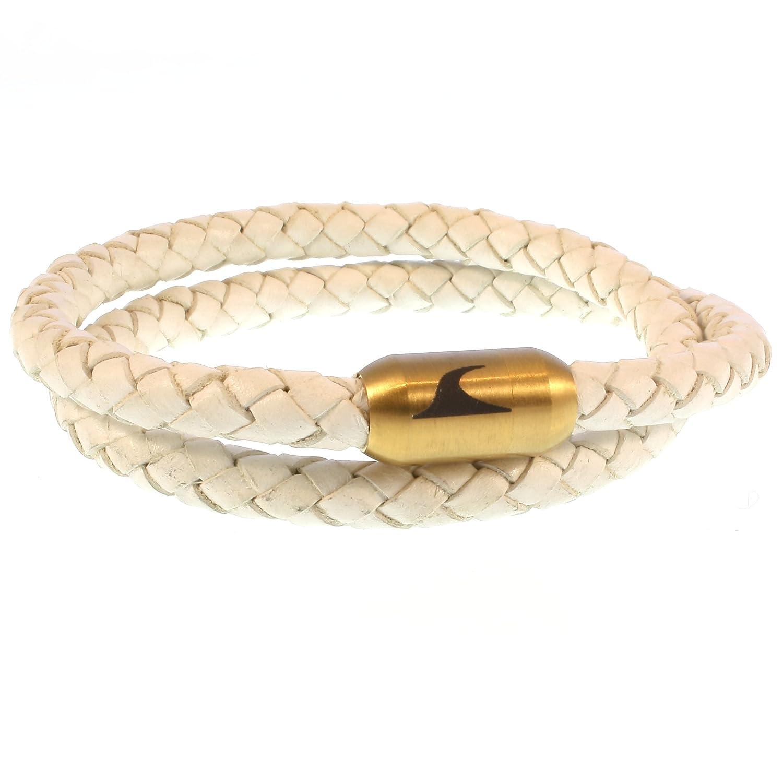 ed6085d59a98 De bajo costo wavepirate® Piel de pulsera Hawaii g color blanco oro hombre  · Caliente de la venta ...