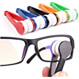 5 Pcs Mini Sun Glasses Eyeglass Microfiber Spectacles Cleaner Soft Brush Cleaning Tool Mini Microfiber Glasses Eyeglasses Cleaner Cleaning Clip (Random Color)