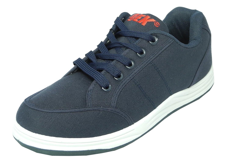 Mens DEK Canvas Lace Up Trainers Casual Shoes Pumps Navy Blue Size 6 7 8 9 10 11 12