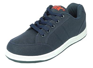 58ad3c940ad7e Mens DEK Canvas Lace Up Trainers Casual Shoes Pumps Navy Blue Size 6 7 8 9  10 11 12: Amazon.co.uk: Shoes & Bags