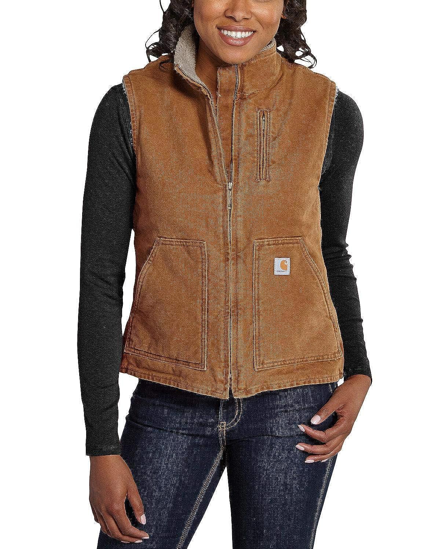 przybywa tania wyprzedaż usa oficjalna strona Carhartt Women's Mock Neck Sherpa Lined Vest (Regular and Plus Sizes)