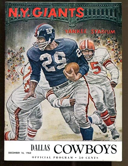 94c9c8da0ff Image Unavailable. Image not available for. Color  1962 New York Giants v  Dallas Cowboys ...