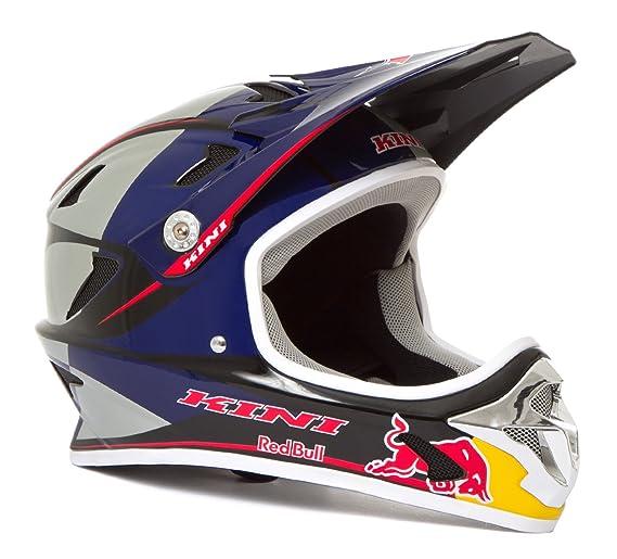 Kini Red Bull Downhill - Casco para Bicicleta de montaña MTB Plata/Azul: Amazon.es: Deportes y aire libre