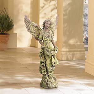 "John Timberland Angel 31"" High Bronze and Green Moss Indoor-Outdoor Statue"
