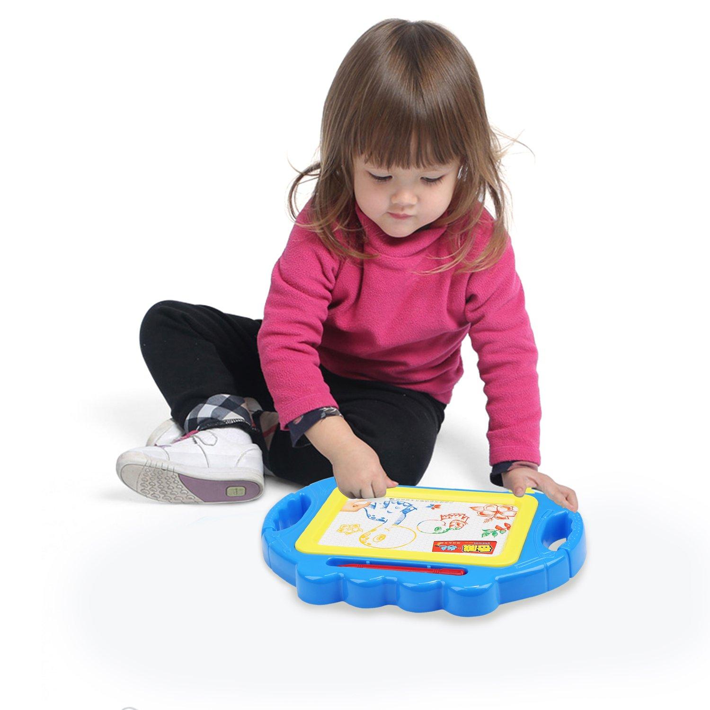 Tablero de Dibujo Magnético, BELLESTYLE Vistoso Borrable Escritura Doodle Junta para Bebé, Desarrollo Habilidades de Dibujo - Mini, Tamano de viaje