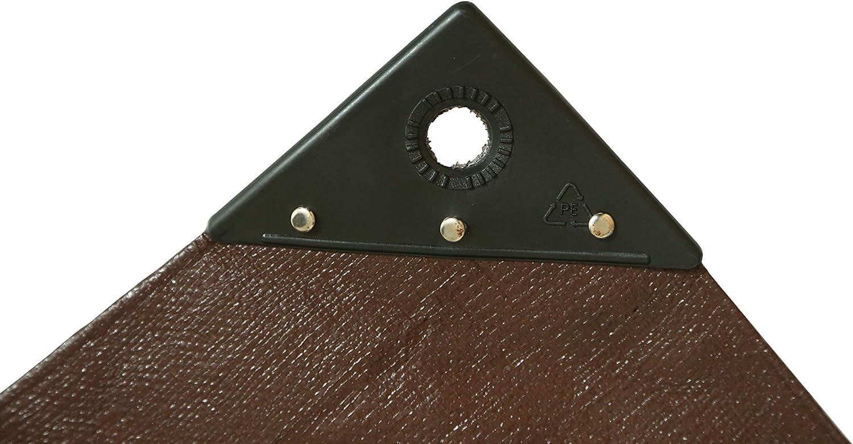 16 Mil Brown Waterproof Rot//Rip//Tear Proof Tarpaulin w//Rustproof Grommets /& Reinforced Edges UV Resistant Super Heavy Duty Poly Tarp Cover 8 oz Cut Size: 20/' x 30/', Finished Size: 196 x 296