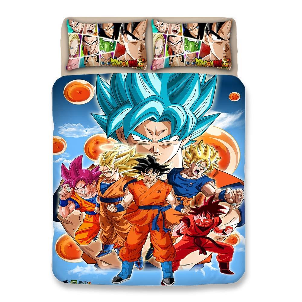 Bulk 3D 6 Personas Dragonball Z Goku Juego de Funda nórdica/Lecho ...