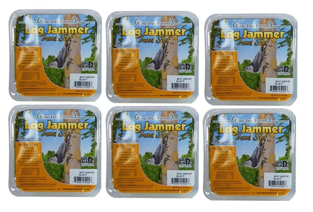 6 Pack of Log Jammer Insect Suet by Pine Tree Farms