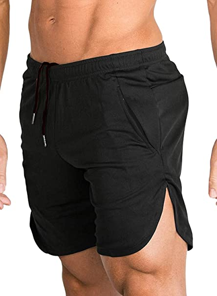 afa576ef178e0c COOFANDY Men's Gym Workout Shorts Running Short Pants Fitted Training  Bodybuilding Jogger with Pockets (Small