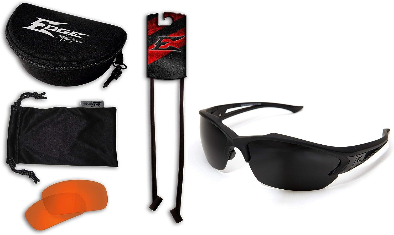 Edge Eyewear Acid Gambit 2 Lens Kit, Matte Black Frame/Tiger's Eye Vapor Shield, G-15 Vapor Shield Lenses