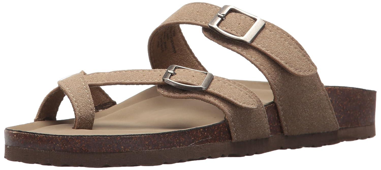 Madden Girl Women's Bryceee Toe Ring Sandal B01HOO1Q8E 8 B(M) US|Taupe Fabric