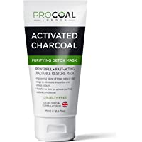 Premium Activated Charcoal Face Mask 75ml by PROCOAL - Purifying, Moisturising & Rejuvenating Masks, Better Results Than Healing Clay Masks, Sand And Sky Face Mask - Made in UK