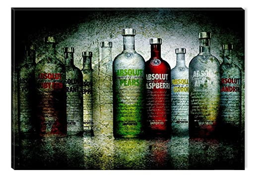 tartonight Canvas Wall Art Absolut, Grunge USA Design for