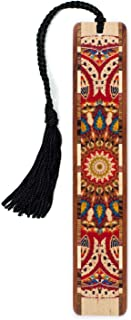 product image for Mitercraft Quilt - Kaleidoscope Design Wooden Bookmark on Maple with Tassel