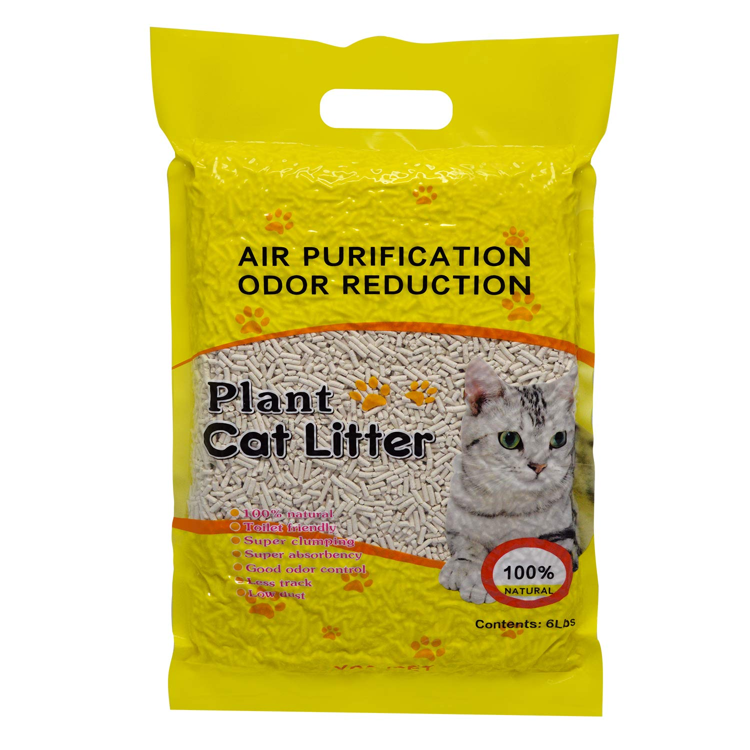 YCSJPET Fast-Clumping Multi-Cat Litter Flushable Litter Unscented and No Dust Pellets