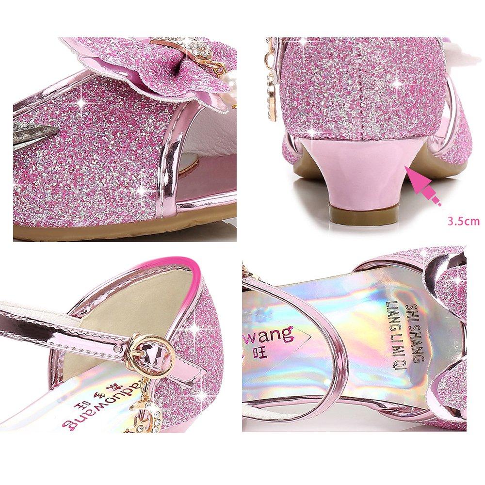 iFANS Little Girls Wedding Shoes Kids Heeled Sandals