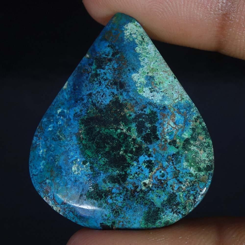 Radheygovind gems 53.00Cts.100% Natural Blue Azurite Pear Cab Fine Quality Loose Gemstones by Radheygovind gems (Image #2)