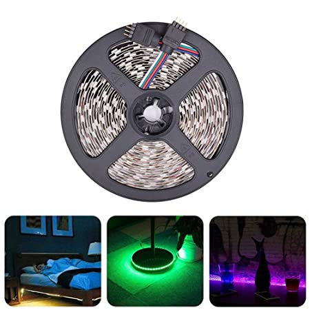 LEDMOMO Tira LED De Luz 20 metros SMD 5050 1200 LED RGB Luces de cinta de diodo flexible con 2.4G RF Control remoto RGB Amplificador Wifi APP Control DC12V ...