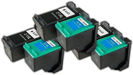 6 cartuchos de tinta compatibles HP 21/22 para impresoras HP ...