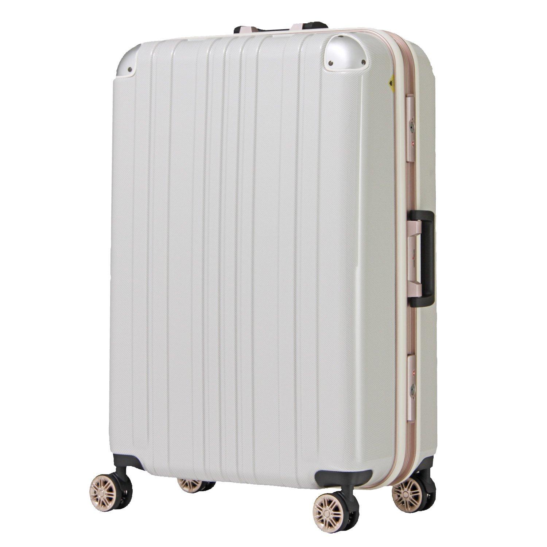 【レジェンドウォーカー】LEGEND WALKER スーツケース アルミフレーム 鏡面ボディ TSAロック 軽量 機内持込~大型 5122 B0798D4SSY Lサイズ(フレーム)|ホワイトカーボン ホワイトカーボン Lサイズ(フレーム)