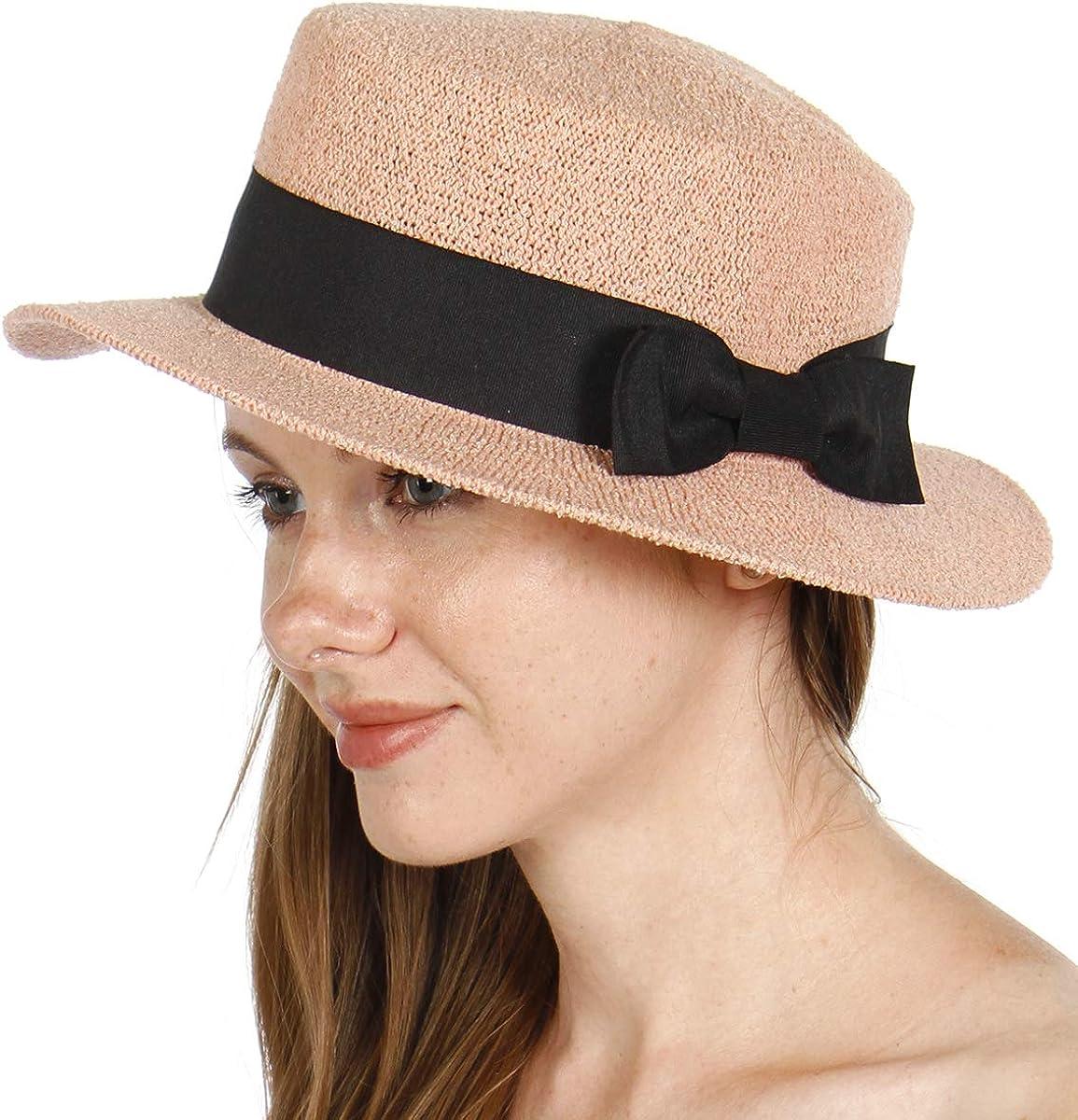 Summer Beach Sun Boater Hat...
