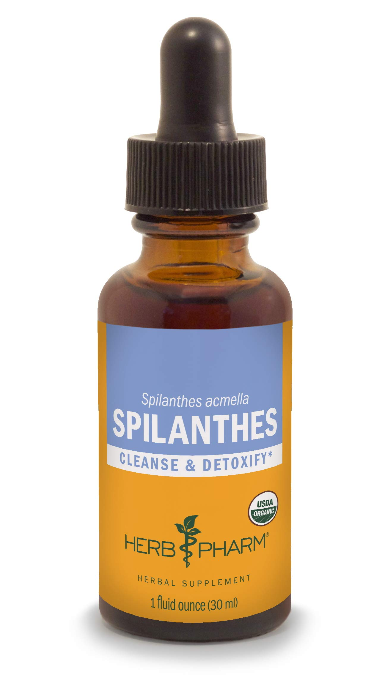 Herb Pharm Certified Organic Spilanthes Extract for Cleansing and Detoxification