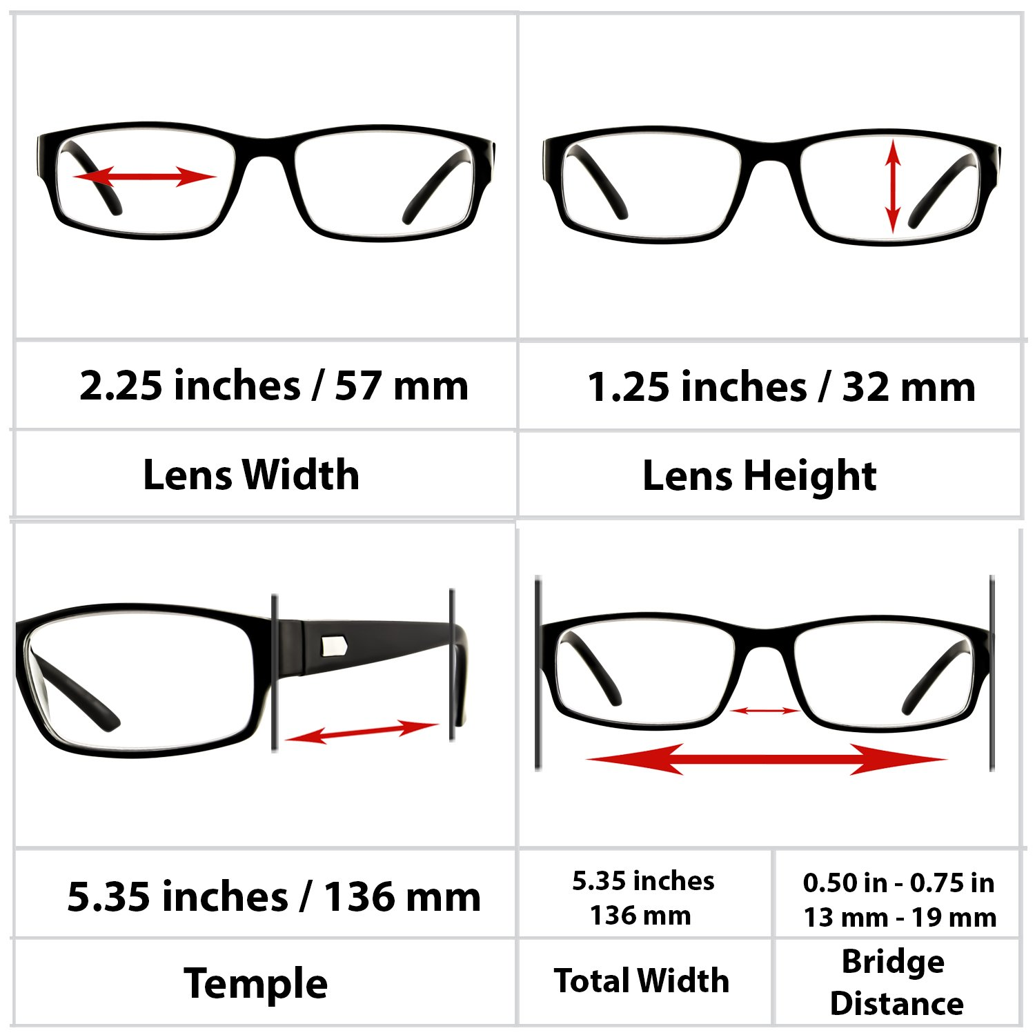 Reading Glasses 3 Pack Black Always Have a Professional Look, Crystal Clear Vision and Sure-Flex Comfort Spring Arms & Dura-Tight Screws 100% Guarantee +2.50 by TruVision Readers (Image #4)